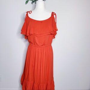 Torrid Tie Strap Midi Dress